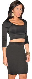 Hot Miami Styles Crop Top Skirt Two Piece Set Dress