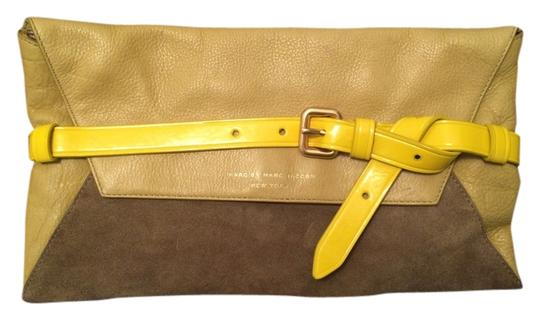 Preload https://item1.tradesy.com/images/marc-by-marc-jacobs-green-leather-suede-clutch-1734660-0-0.jpg?width=440&height=440