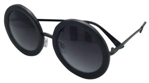 Von Zipper New VONZIPPER Sunglasses VZ FLING Round Crystal Silver Frame w/ Grey Gradient Lenses
