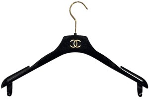 Chanel Chanel Paris Black Velvet Finish Clothing Hanger Storage