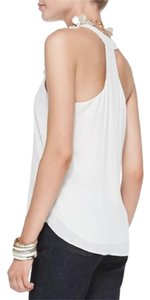 Eileen Fisher Tunic Silk Racerback Top SOFT WHITE