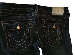True Religion Crystals Straight Leg Jeans