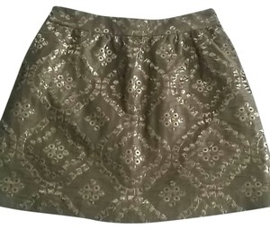 RED Valentino Mini Skirt gold