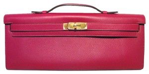 Herms Hermes Kelly Pink Clutch