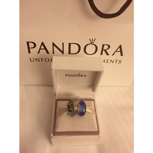 PANDORA Pandora Blue Fascinating Butterfly Kisses Murano Set