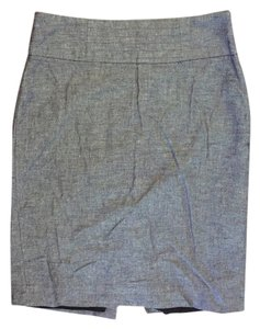 Banana Republic Linen-cotton Skirt Black and white tweed