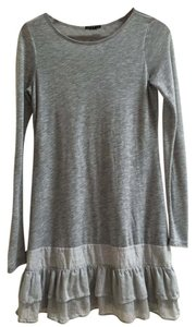 Theory short dress Grey Ruffle Longsleeve Tunic on Tradesy