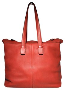 Hermès Her Her Leather Weekender Tote in Red