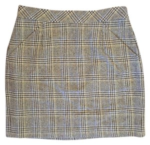 J.Crew Wool Mini Skirt Brown plaid