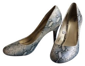 Mossimo Snakeskin Pump Stiletto Grey Multi Pumps