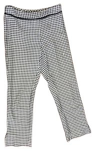 Ann Taylor Cropped Cotton Capri/Cropped Pants Black & White Check