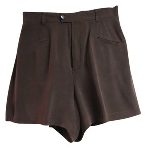 Dana Buchman Silk Sz 10 Dress Shorts Brown