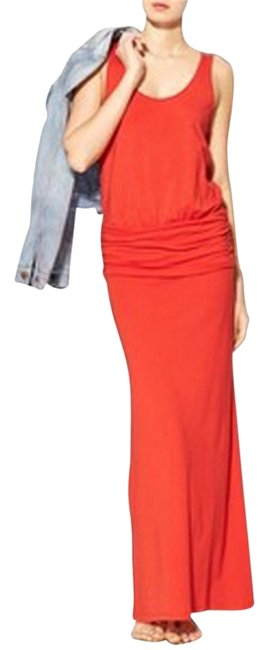 Item - Fire Red Long Casual Maxi Dress Size 4 (S)