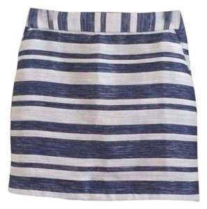 Pim + Larkin Mini Skirt Blue and Silver
