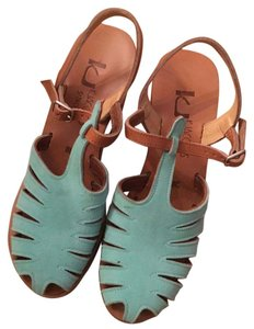 K. Jacques turquoise Wedges