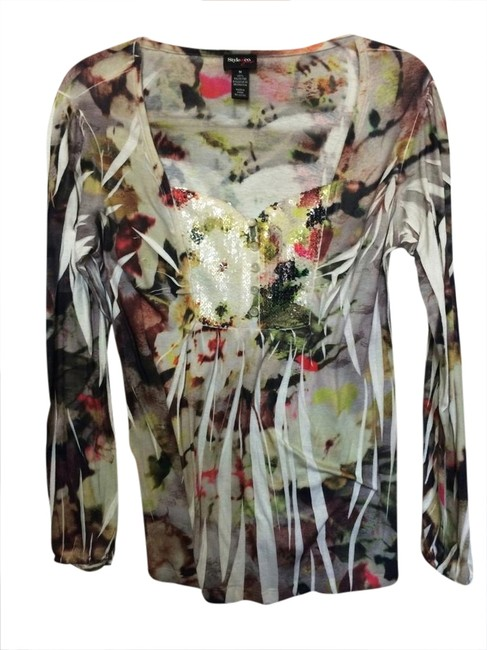 Preload https://img-static.tradesy.com/item/1735112/style-and-co-cream-with-multi-colored-print-sweetheart-neckline-tunic-size-8-m-0-0-650-650.jpg