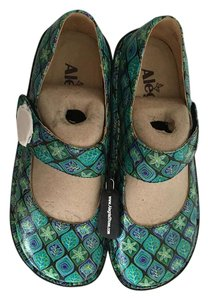Alegria by PG Lite Leather Gold Leaf in Green Flats
