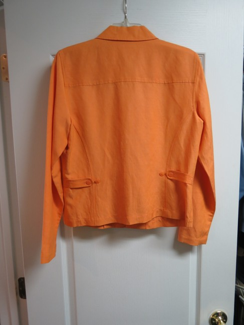 Dana Buchman Silk Linen 8 Orange Jacket