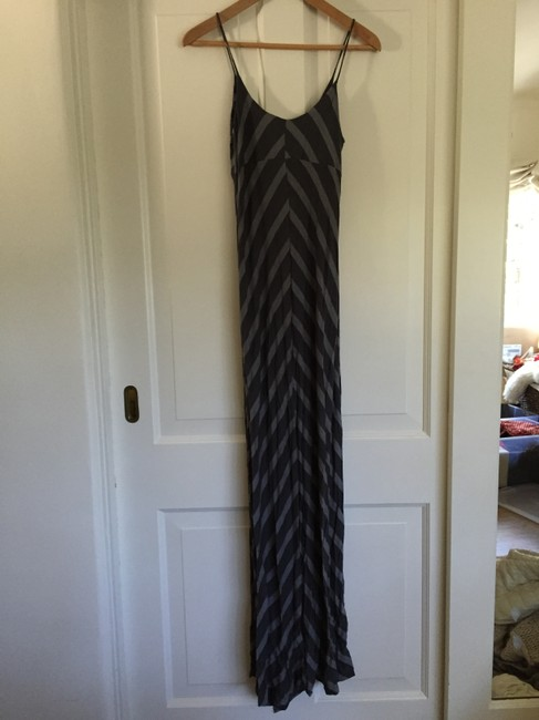 Charcoal stripe Maxi Dress by Gibson