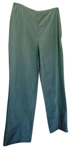 Ann Taylor LOFT Linen Silk Lined Straight Pants Light Blue Pinstripe
