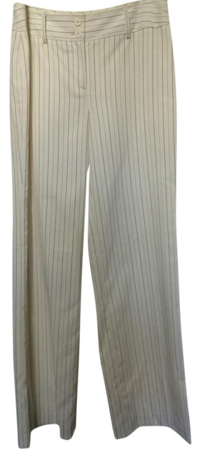 Item - Cream Pinstripe Pants Size 4 (S, 27)