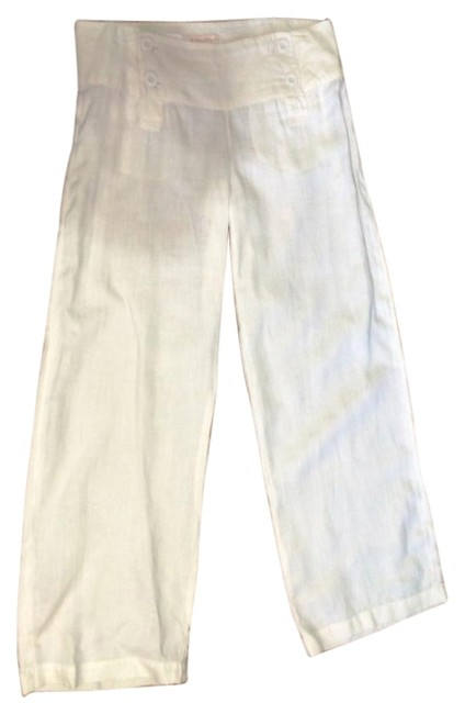 Item - Off White Linen Sailor Pants Size 8 (M, 29, 30)