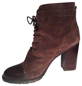 Franco Sarto Boot Ankle Suede Chocolate Brown Boots