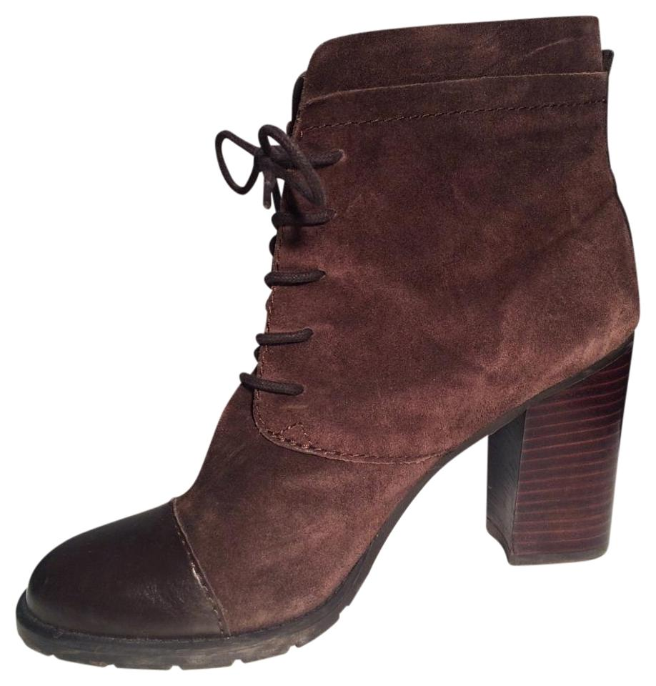 49df005d2f4 Franco Sarto Chocolate Brown Ozzie Ankle Boots Booties Size US 8 ...