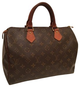 Louis Vuitton Vintage Leather Satchel in Brown