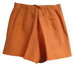 Dana Buchman Silk Linen Sz 12 Mini/Short Shorts Orange