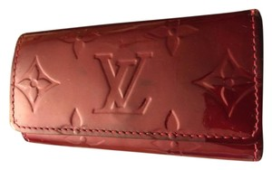 Louis Vuitton Louis VuittonRed Vernis Key Holder monogram