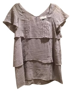 Anthropologie Top Grey, White Striped