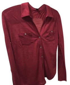 True Religion Button Down Shirt Red