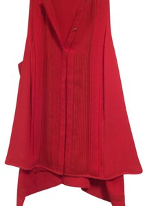 Diane von Furstenberg Button Down Shirt Red