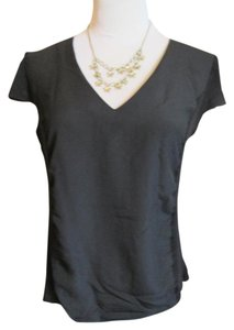 H&M V-neck Cap Sleeves T Shirt Black