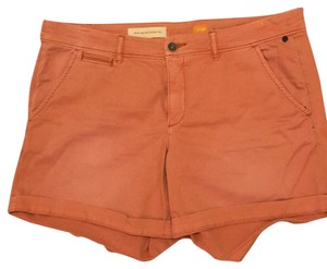 Anthropologie Cuffed Shorts Orange