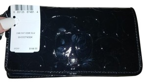 Coach Patent Wristlet Black Clutch
