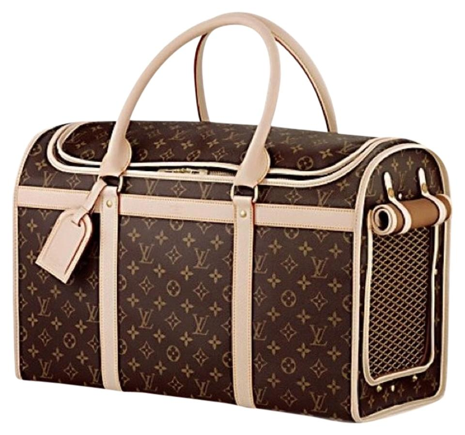 louis vuitton sale price dog carrier 50 canvas weekend travel bag tradesy. Black Bedroom Furniture Sets. Home Design Ideas
