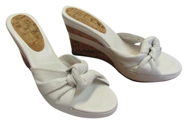 Item - White Neutral M Leather Very Good Condition Wedges Size US 7 Regular (M, B)
