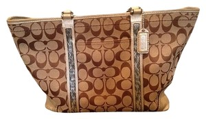 Coach Gold Leather Shoulder Bag