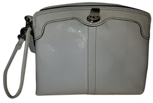Coach Patent Wristlet in White