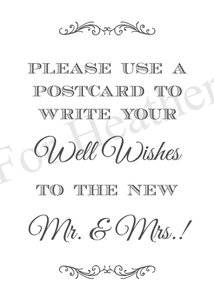 Send A Postcard Wedding Sign - Custom