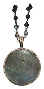 Other Labradorite, Diamond and Sterling Silver Necklace