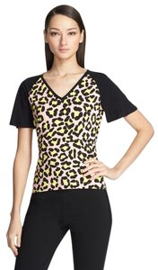 St. John Tee Cheetah Leopard Yellow Label T Shirt CHEETAH MULTI