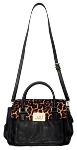 Michael Kors Calfskin Leopard Strap Casual Cross Body Bag