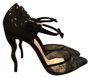 Christian Louboutin Magicafiva Lace Black Pumps