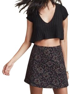 Reformation Mini Skirt Black