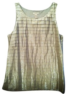 J.Crew Top Metallic Gold
