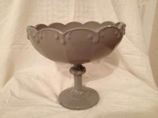 Stone Gray Vintage Large Painted Glass Chalice Reception Decoration
