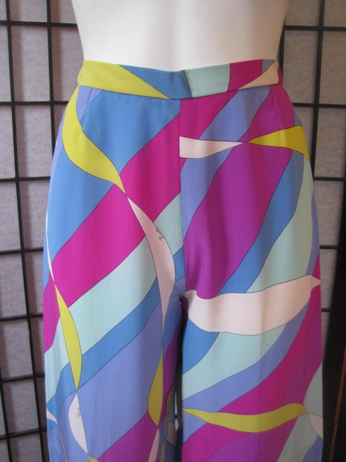 Emilio Pucci Rare Vintage 1960s 1970s Emilio Pucci Outfit Silk Tunic Top Palazzo Pants Mini Dress